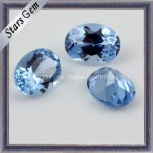 Cor Azul Brilhante Forma Oval Espinela Sintética