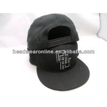 panel raised embroidery custom flat brim snapback cap