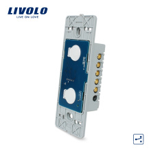 Livolo US Standard 2 Interrupteurs Muraux Tactiles Muraux Commutateur À 2 Voies Platine De Base 110 ~ 220V VL-C502S