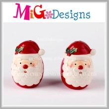 Christmas Santa Ceramic Salt and Pepper Set