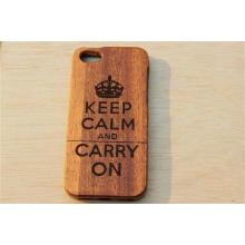 Cubierta de caja de madera natural genuina antideslizante a prueba de golpes para iPhone