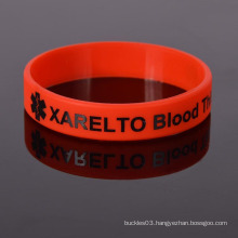 Wholesale bulk bright red silicone wristbands with best design