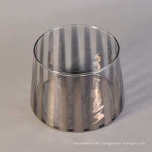 Mouth Blown Glass Containers for Candles with Silver Color