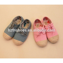 Высокое качество детей зашнуровать обувь случайных девочек espadrille обувь