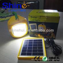Sin contaminación de ahorro de energía linterna led solar recargable linterna de camping
