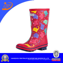 Moda niños Unisex lluvia Botas Wellies Wellington botas de goma (68056)