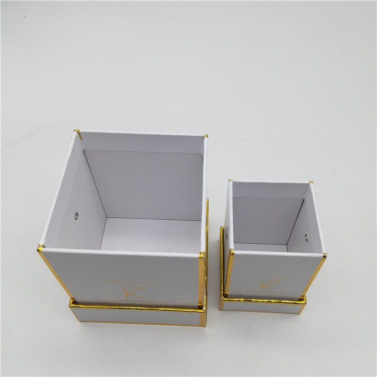 White Square Flower Box