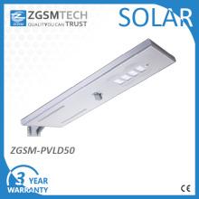 50 Вт Интегрированный светодиодов сад лампы все-в-одном Солнечная светодиодный уличный фонарь
