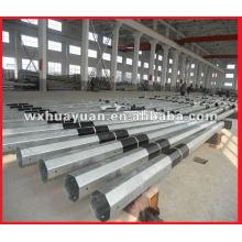 galvanized steel power pole