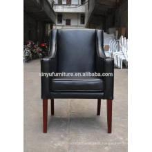 Modern black PU single hotel chair XYN306