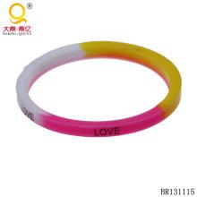 Pulseira de silicone pulseira amor colorido