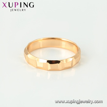 15450 xuping China wholesale factory fashion18K gold plated simple ring designs without stones for women