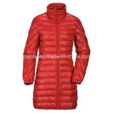 Women′s Winter Long Padded Nylon Down Jacket