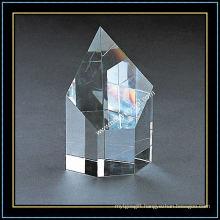 Top Slant Blank Crystal Block for Engraving