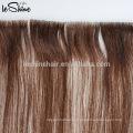 Extensiones de pelo de la cinta del pelo ruso del grado de la cutícula completa dibujada doble de la extensión del cabello humano Remy