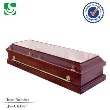 vente directe de style européen paulownia adultes cercueil en bois fabriqué en Chine