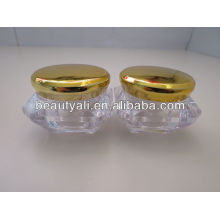 Plated Cap Diamond Cosmetic Jar