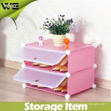 2 Cube Waterproof Shelf Plastic Storage Shoe Organizer Cabinet