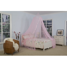 Ribbon Mosquito Nets Pink Circular Canopy