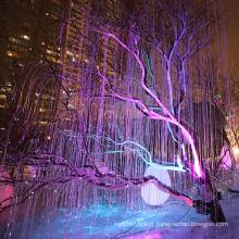 luzes de fibra óptica para árvore de natal
