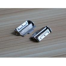 Amostra livre barato e de alta qualidade nickle metal cinto fivela peças com dentes