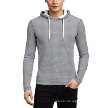 Großhandel Plain Slim Fit Herren Sweatshirt mit Kapuze