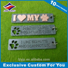 Die casting beautiful dog print rectangle pets dog tag