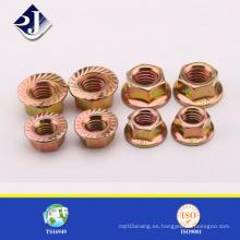 Tuerca de brida hexagonal estándar ASME / DIN