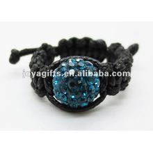 Влюбленный подарок мода стиль shamballa кристалл тканые кольцо мода стиль shamballa кристалл тканые кольцо