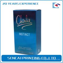 Caixa de papel pequena de embalagem cosmética personalizada com logotipo da tira de carimbo