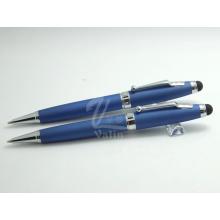 Причудливая написание металлической емкостной ручки