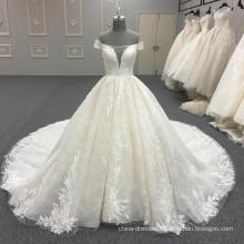 High Quality Embroidered Beaded latest design Wedding Dress 2017 WT344