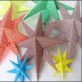 Nuevo diseño 3D Decoración de pared Creative Star 220X220