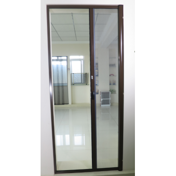 Aluminum retractable screen mosquito net door