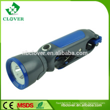 Super brightness 1W powerful LED electric flashlight torch with clip