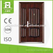 Puertas de seguridad de acero baratas del diseño de la puerta principal de acero de la buena calidad