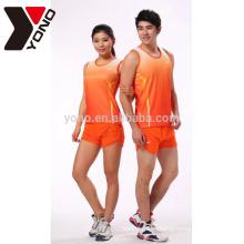 sublimación de alta calidad ropa de running personalizada unisex sin marca