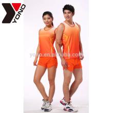 Haute qualité sublimation unisexe personnalisé vêtements de course sans marque en gros sportswear