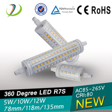 110-120V 5w R7s levou 78mm Linear R7s Led