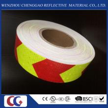 Material reflexivo alto do PVC do pente do mel da seta das cores do dobro da visibilidade