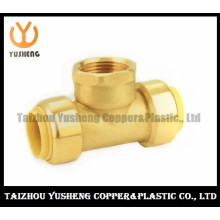 Female Brass Lead Free Quick-Connect Fittings T-Joint (YS3008)