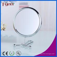 Fyeer 6 polegadas rodada dupla mão lado espelho de maquilhagem (m5058)