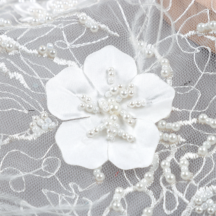heavy embroidered lace fabric
