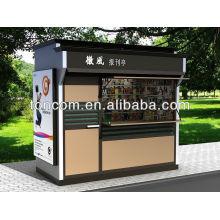 Meubles de kiosque en acier extérieur BKH-43 personnalisés pour magazines et kiosques à journaux