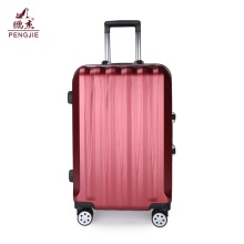 Red Abs luggage for business travel