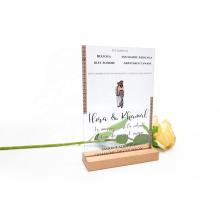 New Design Luxury Clear Plexiglass Acrylic Wedding Invitation Card