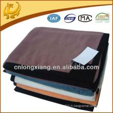 Canapé récréatif en peluche de haute qualité Indian Hotel Bed Plain Color Couverture de coton en bambou
