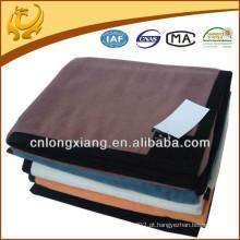 Sofá recreativo de peluche de alta qualidade Cama indiana do hotel Cor liso Cobertor de algodão de bambu