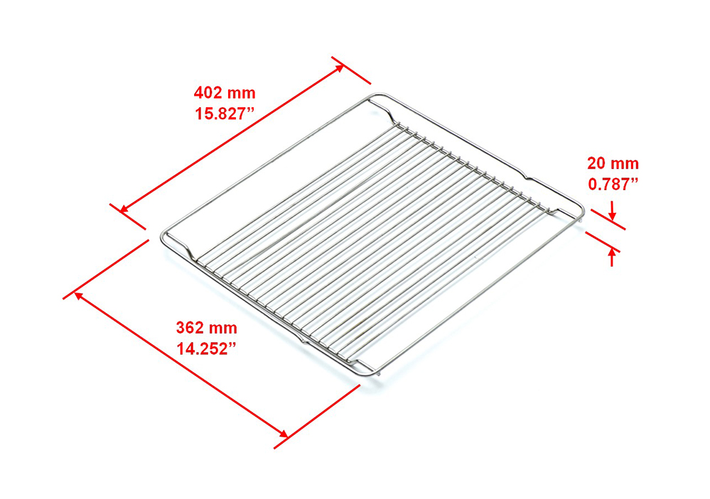 Square Grill Plate Part Size