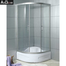 Aokeliya luxury arc-shaped freestanding shower cubicles for separating from bath and bathroom for all ages